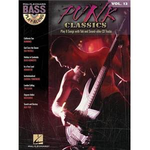 COMPILATION - BASS PLAY-ALONG VOL.12 PUNK CLASSICS + CD