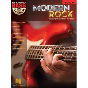 COMPILATION - BASS PLAY ALONG VOL.14 MODERN ROCK + CD
