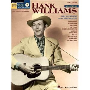 WILLIAMS HANK - PRO VOCAL FOR MALE SINGERS VOL.39 + CD
