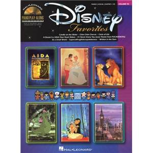 DISNEY - PIANO PLAY ALONG VOL.092 DISNEY FAVORITES + CD