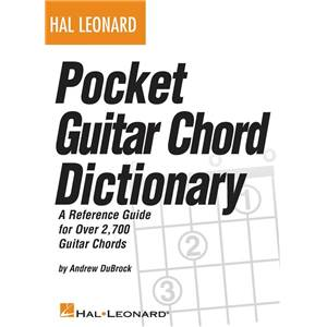 DUBROCK ANDREW - HAL LEONARD POCKET GUITAR CHORD DICTIONARY (DICTIONNAIRE D'ACCORDS)
