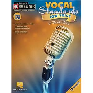 COMPILATION - JAZZ PLAY ALONG VOL.128 VOCAL STANDARDS (LOW VOICES) + CD