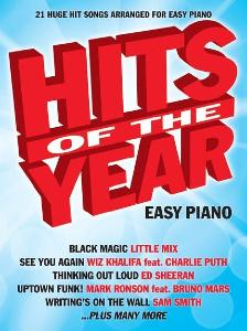 COMPILATION - HITS OF THE YEAR 2015 EASY PIANO