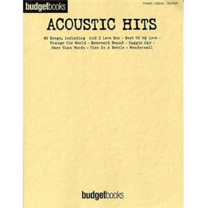COMPILATION - BUDGETBOOK ACOUSTIC HITS P/V/G