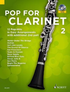 POP FOR CLARINET VOLUME 2 +CD  - CLARINETTES (1-2)