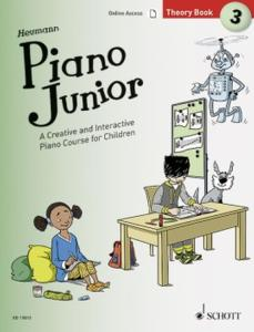 HEUMANN HANS GUNTER - PIANO JUNIOR : THEORY BOOK 3 +ONLINE ACCESS