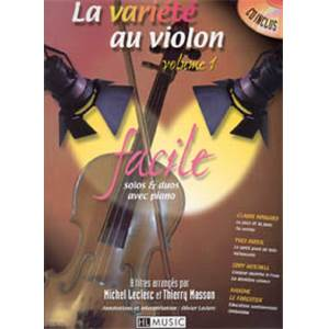 LECLERC M. / MASSON T. - LA VARIETE AU VIOLON VOL.1 + CD