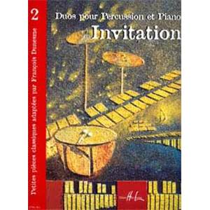 DUNESME FRANCOIS - INVITATION 2 - PERCUSSION