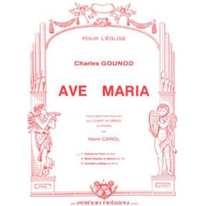 GOUNOD CHARLES - AVE MARIA N°1 - VOIX ELEVEE ET PIANO