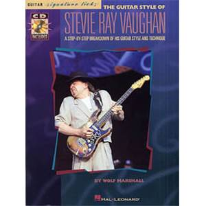VAUGHAN STEVIE RAY - GUITAR STYLES OF SIGNATURE LICKS TAB. + CD