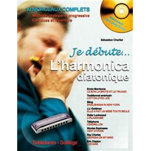 CHARLIER S. - JE DEBUTE L'HARMONICA DIATONIQUE + CD