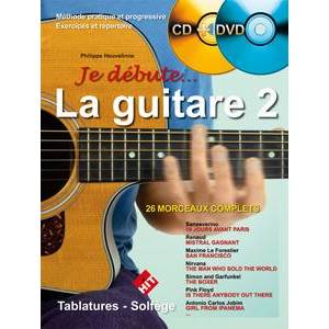 HEUVELINNE PHILIPPE - JE DEBUTE ...LA GUITARE VOL.2 + CD + DVD