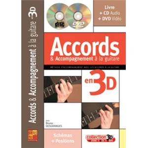 DESGRANGES BRUNO - ACCORDS ET ACCOMPAGNEMENT GUITARE 3D + CD + DVD