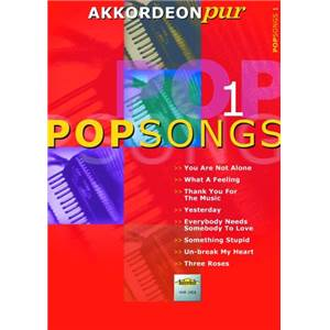 COMPILATION - POPSONGS VOL.1 POUR ACCORDEON