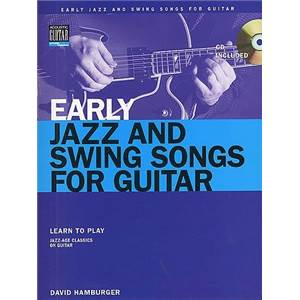 HAMBURGER DAVID - EARLY JAZZ AND SWING SONGS FOR GUITAR TAB. + CD