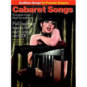 COMPILATION - AUDITION SONGS FOR FEMALE SINGERS : CABARET SONGS + 2CDS