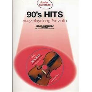 COMPILATION - JUNIOR GUEST SPOT 90'S HITS POUR VIOLON + CD