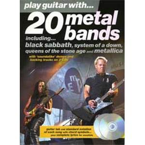 COMPILATION - 20 METAL BANDS PLAY GUITAR WITH + 2CD