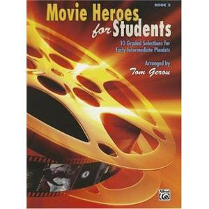COMPILATION - MOVIE HEROES FOR STUDENTS VOL.2 10 GRADED SELECTIONS FOR EARLY ELEMENTARY PIA + CD