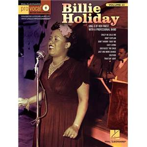 COMPILATION - PRO VOCAL FOR WOMEN SINGERS VOL.33 BILLIE HOLIDAY + CD Épuisé