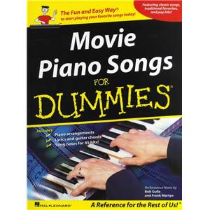 COMPILATION - MOVIE PIANO SONGS FOR DUMMIES (POUR LES NULS) 40 SONGS P/V/G
