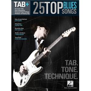 COMPILATION - 25 TOP BLUES SONGS TAB. TONE TECHNIQUE GUITAR RECORDED VERSION