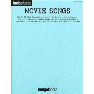 COMPILATION - BUDGETBOOK MOVIE SONGS EASY PIANO P/V/G