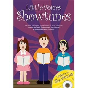 COMPILATION - LITTLE VOICES SHOWTUNES CHORALE / PIANO + CD