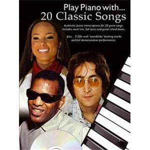 COMPILATION - PLAY PIANO WITH 20 CLASSIC SONGS COLDPLAY, LENNON, BOWIE, MUSE...+ 3CD