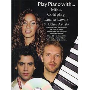 COMPILATION - PLAY PIANO WITH MIKA, COLDPLAY, LEONA LEWIS ET OTHER + CD