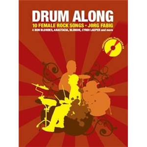 COMPILATION - DRUM ALONG 10 FEMALE ROCK SONG + CD