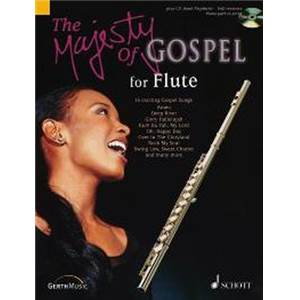 REIGEL JOCHEN (ARR) - MAJESTY OF GOSPEL (16 GOSPELS CELEBRES) + CD ROM FLUTE/PIANO AD LIBITUM