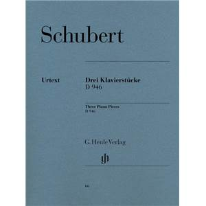 SCHUBERT FRANZ - 3 PIECES IMPROMPTUS D946 - PIANO