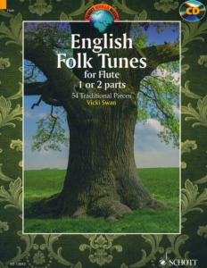 ENGLISH FOLK TUNES FOR FLUTE +CD (54 AIRS TRADITIONNELS ANGLAIS) - FLUTE TRAVERSIERE