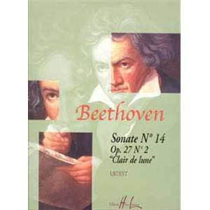 BEETHOVEN - SONATE NO.14 OP.27 NO.2 CLAIR DE LUNE