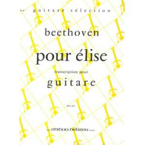 BEETHOVEN LUDWIG VAN - LETTRE A  ELISE - GUITARE
