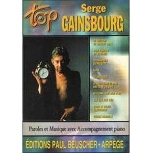 GAINSBOURG SERGE - TOP GAINSBOURG SERGE PIANO SIMPLIFIE PAROLES ET ACCORDS