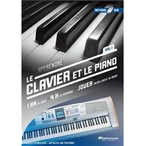 METHODE DE CLAVIER ET PIANO 1 AN DE COURS DVD