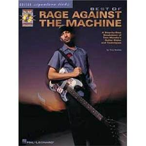 RAGE AGAINST THE MACHINE - BEST OF SIGNATURE LICKS + CD