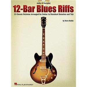 RUBIN DAVE - 12 BAR BLUES RIFFS TAB. + CD