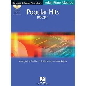 COMPILATION - HAL LEONARD STUDENT PIANO LIBRARY ADULT PIANO METHOD POPULAR HITS VOL.1 + CD