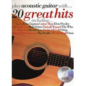 COMPILATION - PLAY ACOUSTIC GUITAR 20 HITS + 2CD