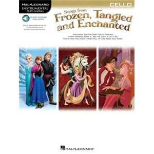 COMPILATION - INSTRUMENTAL PLAY ALONG FROZEN TANGLED VIOLONCELLE + CD