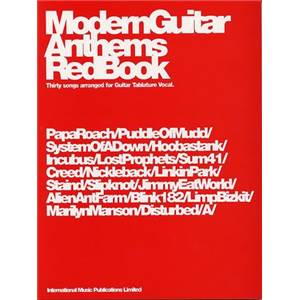 COMPILATION - MODERN GUITAR ANTHEMS RED VOL.(S.O.A D., SUM 41, LINKING PARK…) GUITAR TAB.
