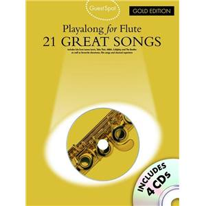 COMPILATION - GUEST SPOT PLAY ALONG FOR FLUTE GOLD EDITION + 4CDS