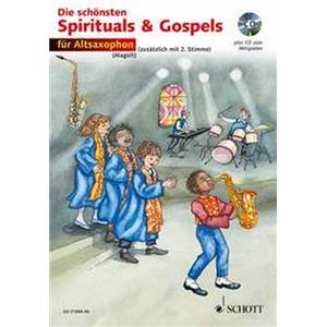 MAGOLT MARIANNE ET HANS - THE BEST OF SPIRITUALS AND GOSPELS FOR ALTO SAXOPHONE MIB (1 OU 2) + CD