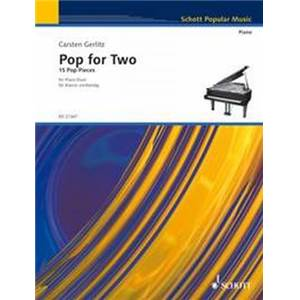 GERLITZ CARSTEN - POP FOR TWO (15 PIECES) PIANO 4 MAINS