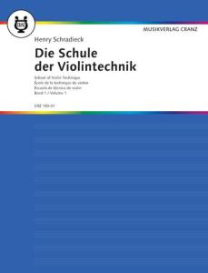 SCHRADIECK HEINRICH - ECOLE DE LA TECHNIQUE VOL.1 - VIOLON