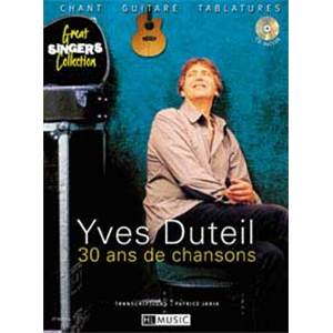 DUTEIL YVES - 30 AND DE CHANSONS GUITARE/CHANT + CD