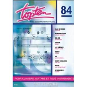 COMPILATION - TOP TEN NO.84 PIANO SIMPLIFIE PAROLES ET ACCORDS